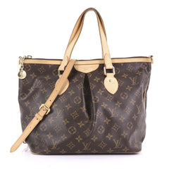 Louis Vuitton Palermo Handbag Monogram Canvas PM Brown
