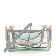 Chanel Coco Splash Flap Bag Quilted PVC With Lambskin Medium Pink