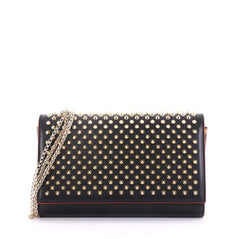 Christian Louboutin Paloma Clutch Spiked Leather Black 403711