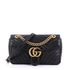 GG Marmont Flap Bag Matelasse Leather Small