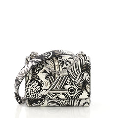 Louis Vuitton Twist Handbag Limited Edition Printed Leather PM