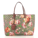 Reversible Tote Blooms GG Print Leather Large