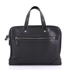 Louis Vuitton Igor Briefcase Taiga Leather Black