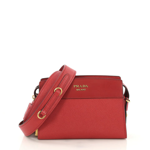 903fc7154 Prada Esplanade Crossbody Bag Saffiano Leather Small Red 404196 – Rebag