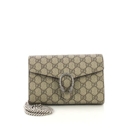 Dionysus Chain Wallet GG Coated Canvas Small