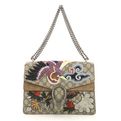 Gucci Dionysus Handbag Embroidered GG Coated Canvas Medium 404293