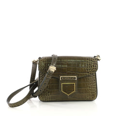 Givenchy Nobile Crossbody Bag Crocodile Embossed Leather Mini 40438/1