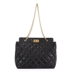 Chanel Reissue Tote Quilted Aged Calfskin Large Black