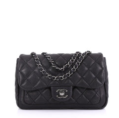 Chanel Now and Forever Flap Bag Quilted Caviar Medium Black