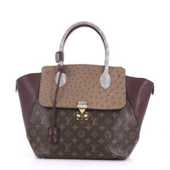 Louis Vuitton Majestueux Tote Monogram Canvas and Exotics MM Brown