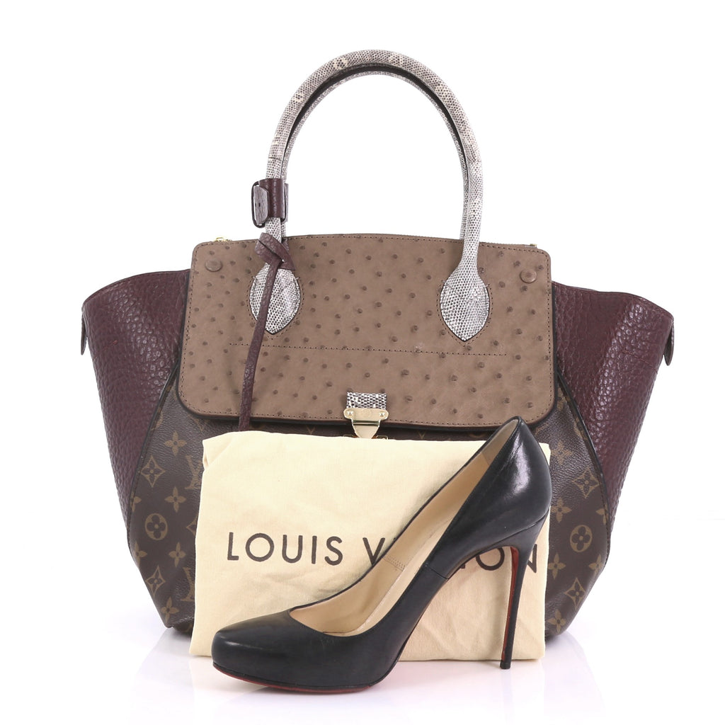 c7b85a8f1bce Louis Vuitton Majestueux Tote Monogram Canvas and Exotics MM 404644 ...