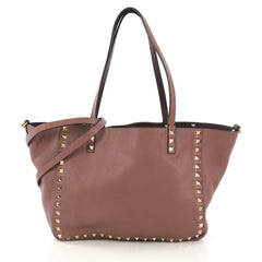 Valentino Rockstud Reversible Convertible Tote Leather 404681