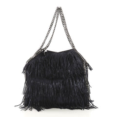 Stella McCartney Falabella Fringe Tote Shaggy Deer Small 404941