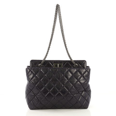 Chanel Reissue Tote Quilted Aged Calfskin Large Purple 4052714