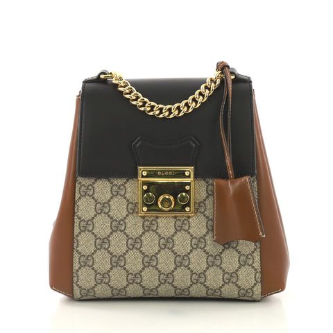 b2f24d1d2d60cc Gucci Padlock Backpack GG Coated Canvas and Leather Mini 4052974 – Rebag