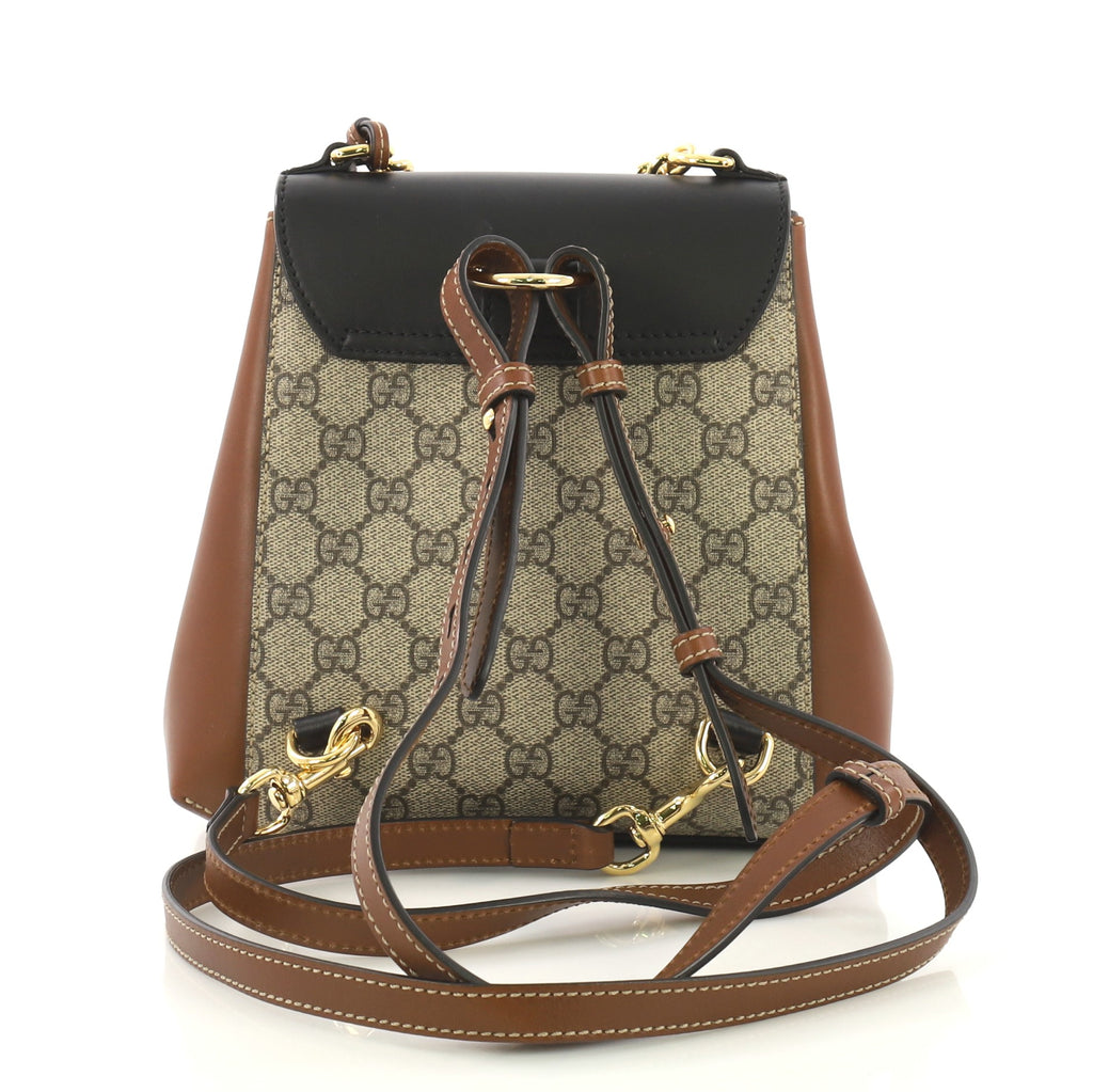 0d564a0acf70f6 Gucci Padlock Backpack GG Coated Canvas and Leather Mini 4052974 – Rebag