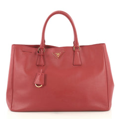 Prada Lux Open Tote Saffiano Leather Medium Red 405327