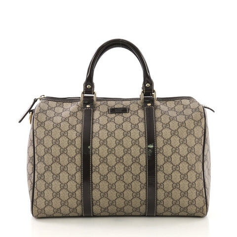 9ea2e40d805b65 Gucci Joy Boston Bag GG Coated Canvas Medium Brown 405622 – Rebag