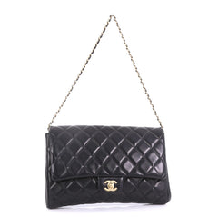 Chanel Clutch with Chain Quilted Lambskin Black 405636 0839ef1c8cb61