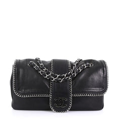 Chanel Madison Flap Bag Leather Medium Black 4056815