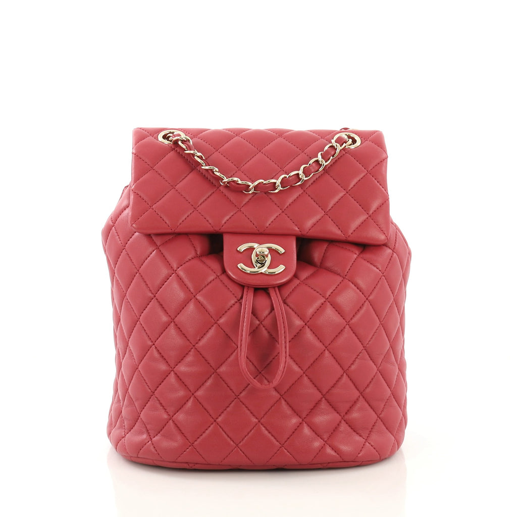 e553dd0fc416 Chanel Urban Spirit Backpack Quilted Lambskin Small Red 4056824 – Rebag