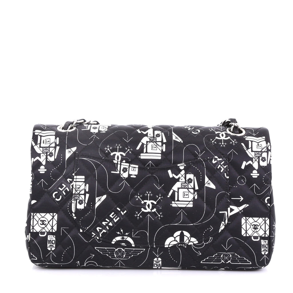 b8bb5e17ee80 Chanel Airlines Classic Double Flap Bag Quilted Printed 4056833 – Rebag