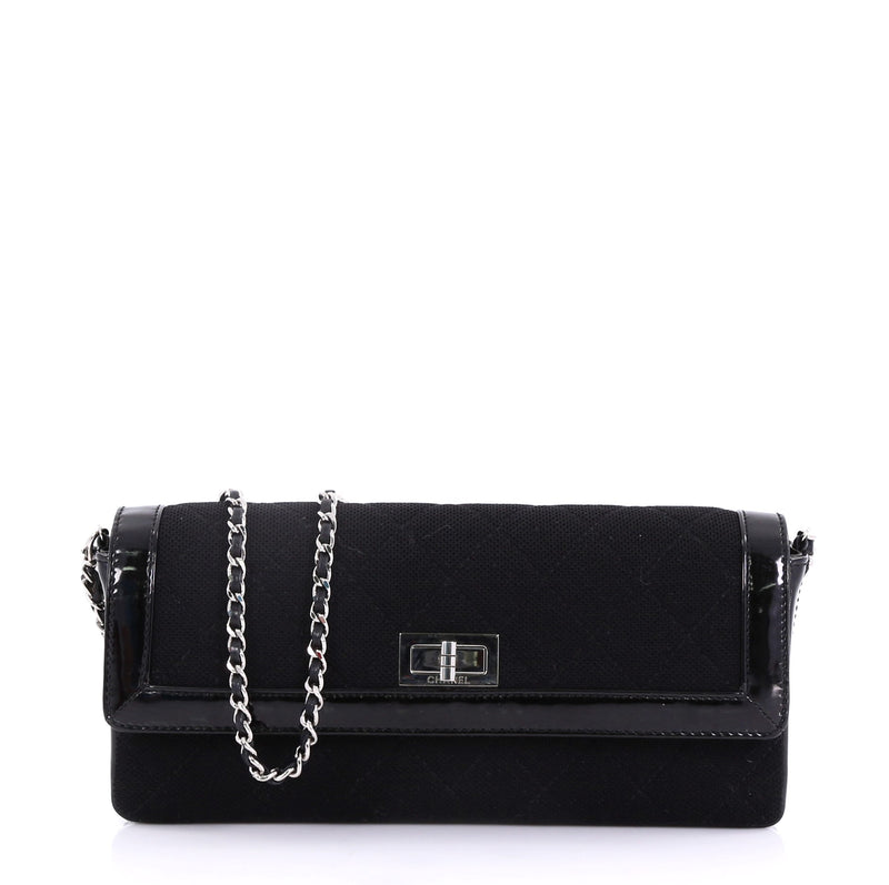 chanel reissue flap bag quilted jersey with patent east 4056838 rebag. Black Bedroom Furniture Sets. Home Design Ideas