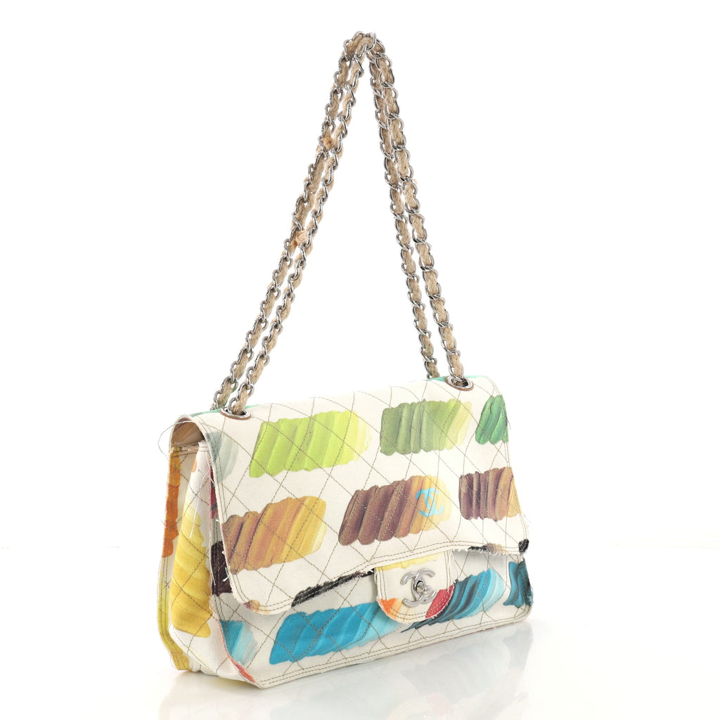 d16f9efe716a Chanel Colorama Flap Bag Quilted Watercolor Canvas Jumbo 4056871 – Rebag