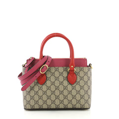Gucci Linea A Convertible Tote GG Coated Canvas Mini Neutral  40568/88