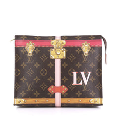 Louis Vuitton Toiletry Pouch Limited Edition Summer Trunks Monogram Canvas 26