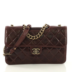 Chanel Model: Perfect Edge Flap Bag Quilted Calfskin Jumbo Purple 40570/8