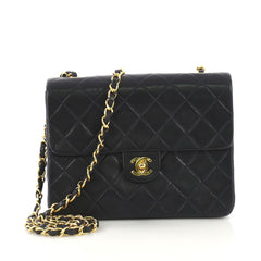 Chanel Vintage Square Classic Flap Bag Quilted Lambskin 40572112 e16e54dde98e6