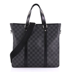 Louis Vuitton Tadao Handbag Damier Graphite PM Black