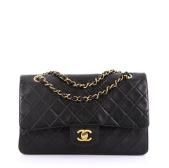 Chanel Model: Vintage Classic Double Flap Bag Quilted Lambskin Medium Black 40572/122