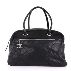 Chanel Model: Biarritz Duffle Bag Quilted Coated Canvas Large Black 40572/134