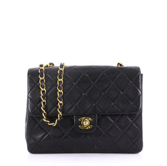 Chanel Model: Vintage Square Classic Flap Bag Quilted Lambskin Small Black 40572/168
