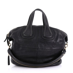 Givenchy Nightingale Satchel Leather Medium Black