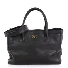 Chanel Model: Cerf Executive Tote Leather Medium Black 40572/63