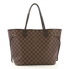 Louis Vuitton Neverfull Tote Damier MM Brown
