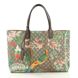 Gucci Shopping Tote Tian Print GG Coated Canvas Large Brown 40586/2