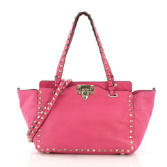 Valentino Rockstud Tote Soft Leather Small Pink 40589/16
