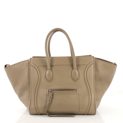 Celine Phantom Handbag Grainy Leather Medium Gray 40589/1