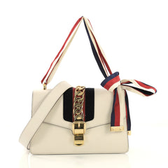 Gucci Sylvie Shoulder Bag Leather Small Neutral 40589/4