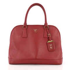 Prada Open Promenade Handbag Saffiano Leather Medium Red 40589/8