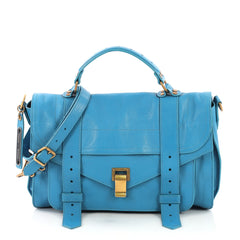 Proenza Schouler PS1 Satchel Leather Medium Blue 4064001