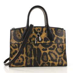 Louis Vuitton City Steamer Handbag Wild Animal Print Canvas EW