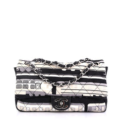Le Train Flap Bag Quilted Printed Canvas Medium