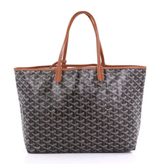 Goyard St. Louis Tote Coated Canvas PM Black 40678/37