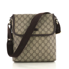 Gucci Flap Messenger GG Coated Canvas Small Brown 40678/44