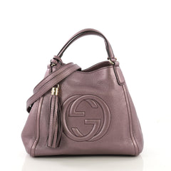 Gucci Soho Shoulder Bag Leather Small Purple 40678/47